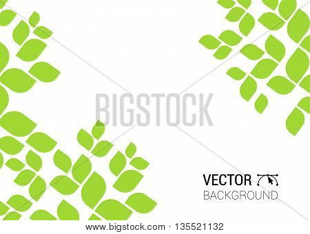 Abstract Background With Green Sheet. Background Leaves Leaf Tree Pattern Natural Nature