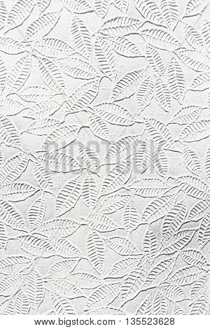 White mulberry paper Saa Paper,  leaf tracery