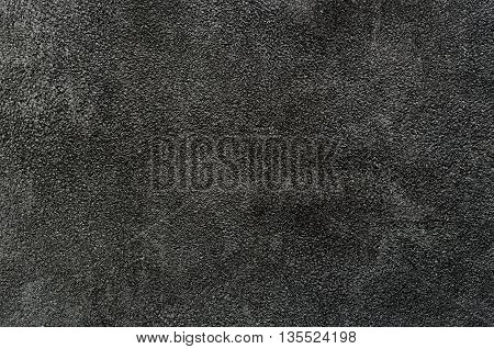 Closeup of dark suede texture for background