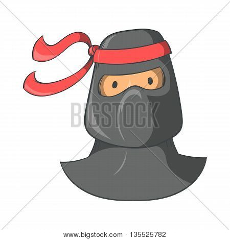 Ninja mascot icon in cartoon style isolated on white background