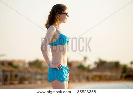 Young Woman On Sea Resort