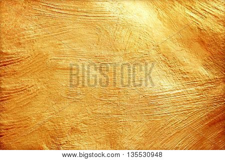 golden cement texture background. abstract gold texture /gold or yellow surface background