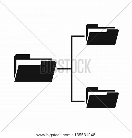 Folders structure icon in simple style isolated on white background