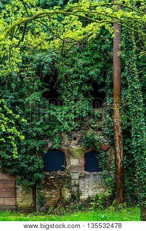 Fort Uhrich wall in Illkirch Graffenstaden, France