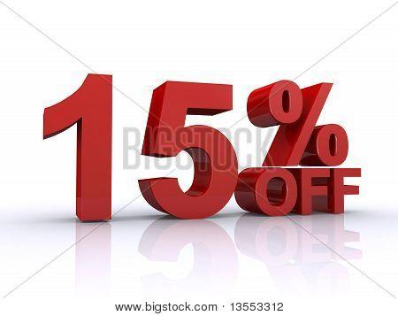 15 Percent Off Discount
