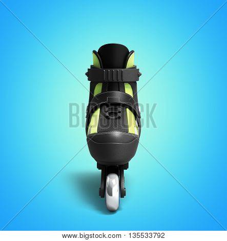 Inline Rollers Skates 3D Render On Gradient