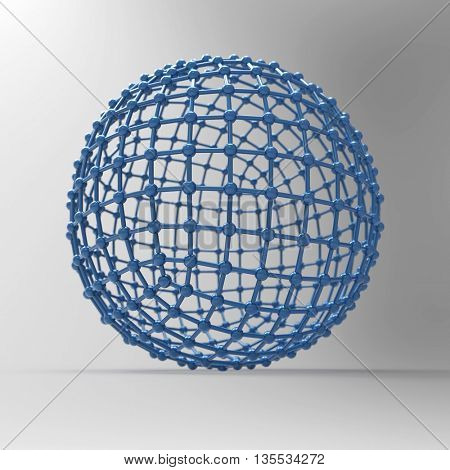 mesh sphere, 3d illustration