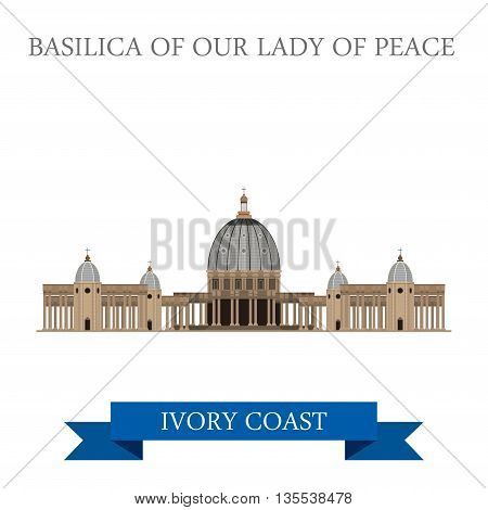 Basilica of Our Lady of Peace in Yamoussoukro Ivory Coast
