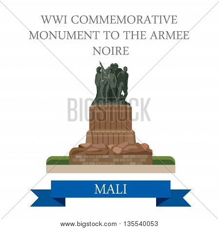 WWI Commemorative Monument to the Armee Noire in Mali vector