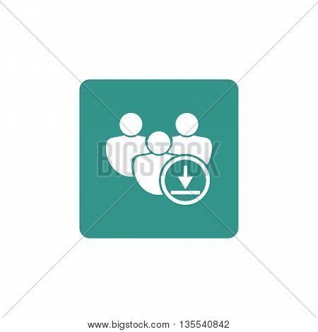 Download Icon In Vector Format. Premium Quality Download Symbol. Web Graphic Download Sign On Green
