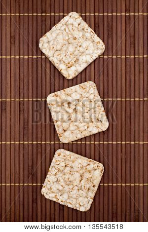 Composition Of Square Three Crunchy Rye Crispbreads