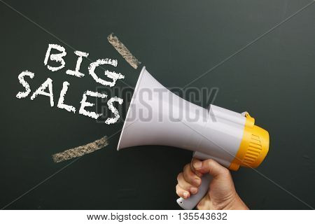 megaphone with text big sales