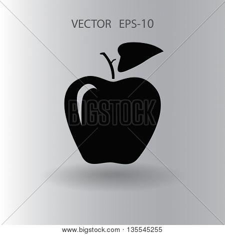 Flat  icon of apple