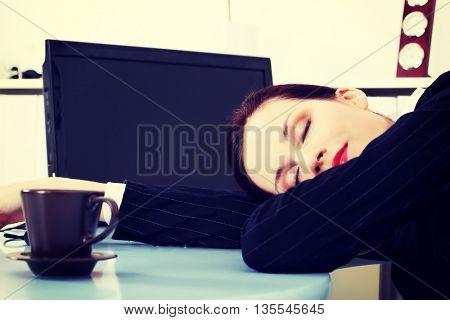 Sleeping in office.