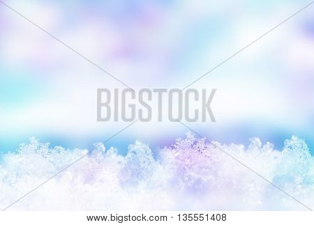 Background of snow. Winter landscape. The texture of the snow