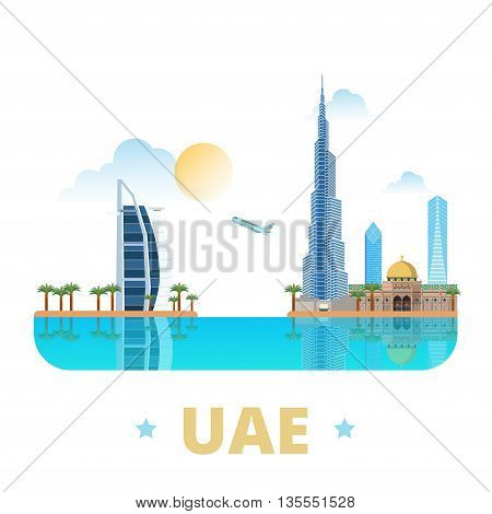 UAE United Arab Emirates country design template Flat web vector