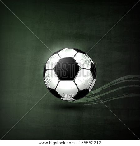 Soccer ball Illustration, Graphic Concept For Your Design.