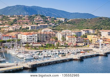 Seaside View Of Propriano Port, South Corsica