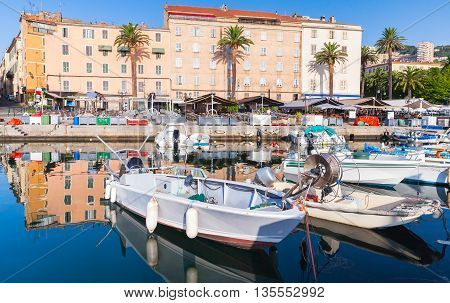 Fishing Boats In Ajaccio, South Corsica, France