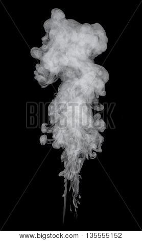 B&w abstract smoke on a dark background
