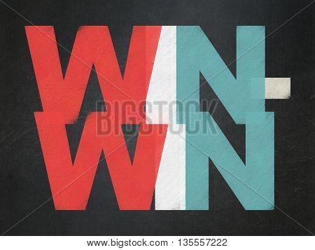 Finance concept: Painted multicolor text Win-Win on School board background, School Board