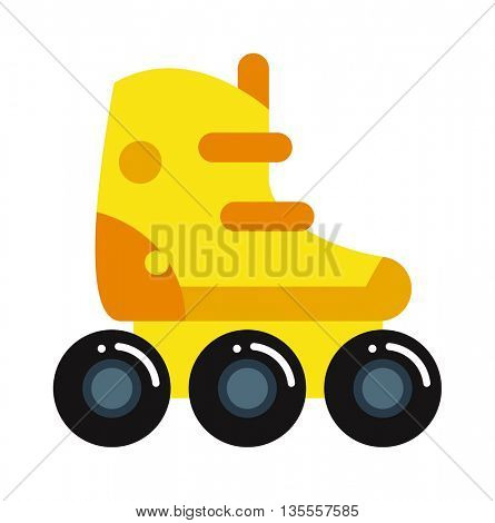 rollers boot icon isolated