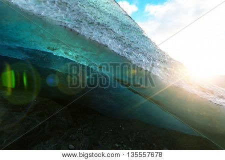 Svartisen Glacier landscape in Norway