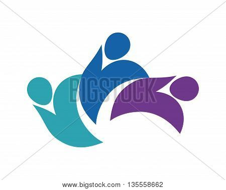 People concept represented by abstract Pictogram icon over flat and isolated background