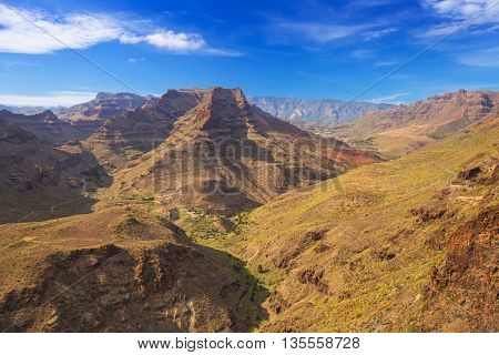 Mountains and valleys of Gran Canaria island, Spain