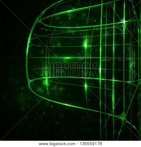 Abstract technology, technical drawing, shiny space background, art concept