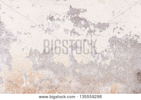 Vintage or grungy white background of natural cement or stone old texture as a retro pattern wall. It is a concept conceptual or metaphor wall banner grunge material aged rust or construction. Black and white tone