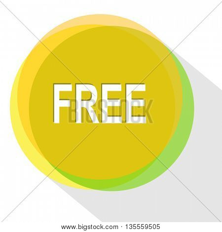 free. Internet template. Vector icon.