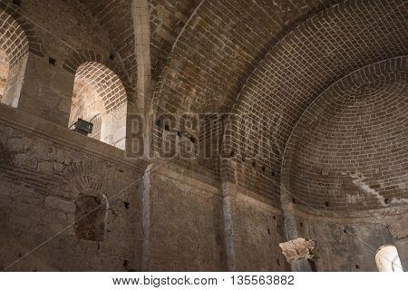 Demre, Turkey - July, 2015: inside St. Nicholas church in Demre Turkey