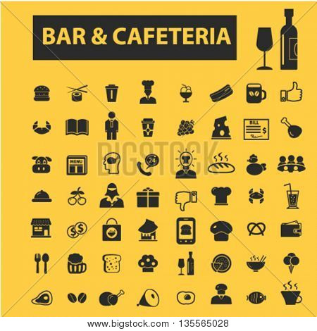 bar, cafe, cafeteria, and pub icons
