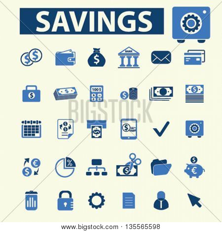 savings icons