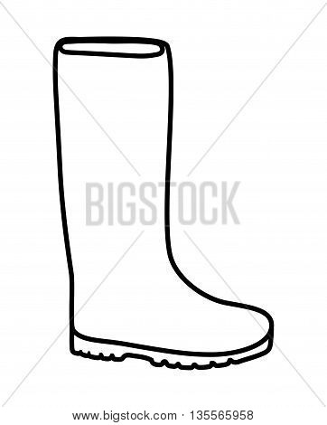 Gardening concept represented by boot shoe icon over flat and isolated background
