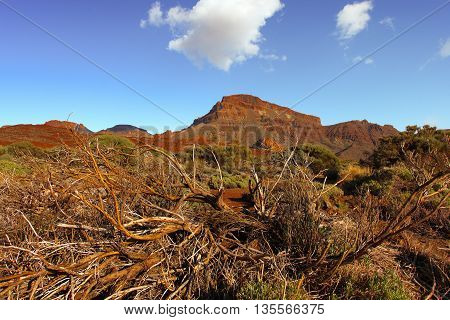 Beautiful nature landscape with mountains and sky Tenerife Canary Islands