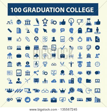 graduation college icons