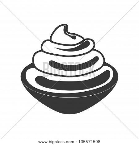 Bakery concept represented by flavour cream icon over flat and isolated background