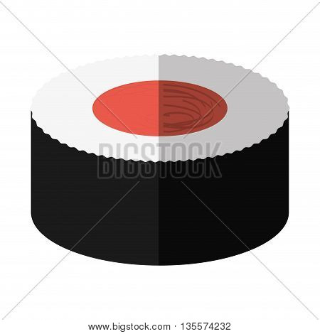Japan culture concept represented by sushi icon over flat and isolated background