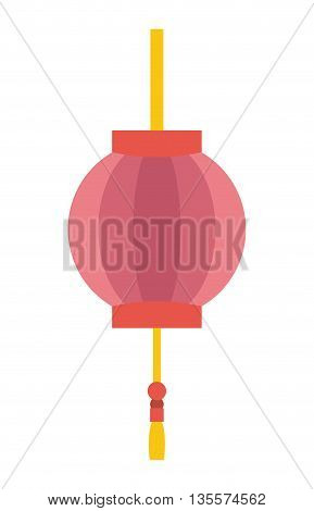 Japan culture concept represented by lamp icon over flat and isolated background