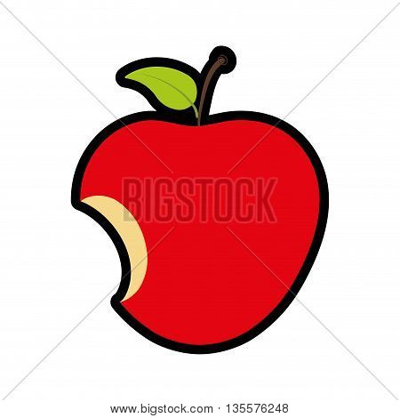 fruit represented by apple icon over isolated and flat background