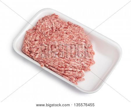 Forcemeat on plate isolated