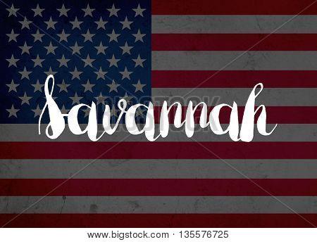 Savannah written with hand-written letters