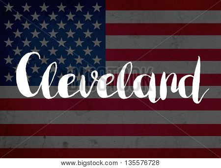 Cleveland written with hand-written letters
