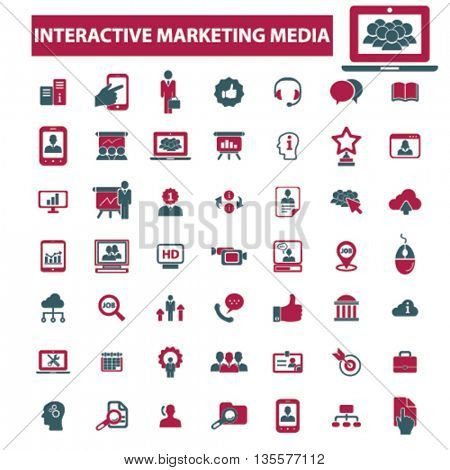 interactive marketing media icons