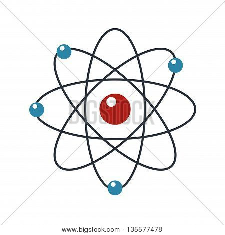 flat design of atom with orbits icon vector illustration