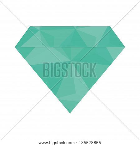 Gem represented by diamond icon over isolated and flat background