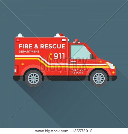 Fire Rescue Department Emergency Car .