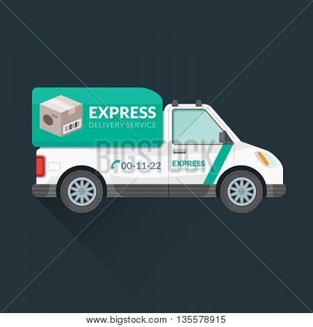 Express Delivery Service Cargo Vehicle.
